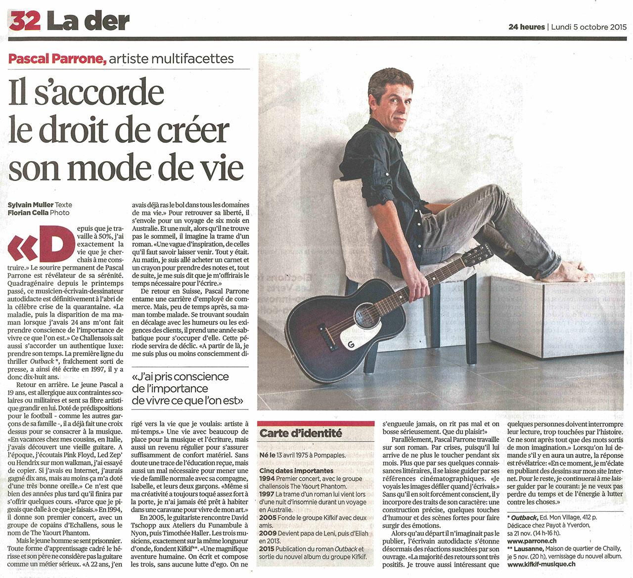 24 heures - Portrait la Der - 05.10.2015